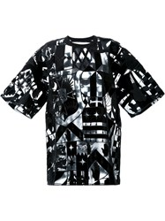 Ktz Allover Embroidered Oversized T Shirt Black