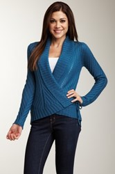 Lulu Long Sleeve Shawl Collar Wrap Cardigan