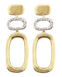 Murano 18K Brushed Gold And Diamond Earrings Marco Bicego