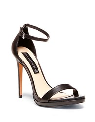 Steve Madden Rykie Leather Stilettos Black