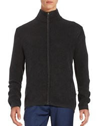Strellson Lennon Knit Zip Up Jacket Black