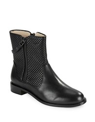 Matt Bernson Axel Quilted Leather Ankle Boots Black