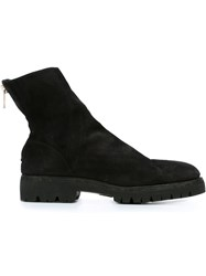 Guidi Back Zip Ankle Boots Black