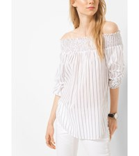Off The Shoulder Striped Cotton Top