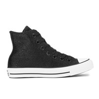 Converse Women's Chuck Taylor All Star Sting Ray Leather Hi Top Trainers Black Black White