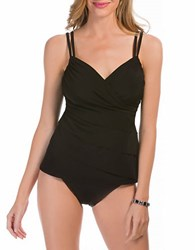 Miraclesuit Suit Yourself Rumba Ruffle Tankini Top Black