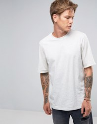 Weekday Fold Up Tee Contrast Reverse Roll Up T Shirt White With Yelllw