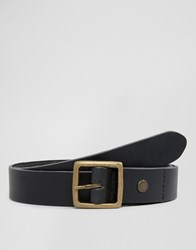 Minimum Skinny Leather Belt Black