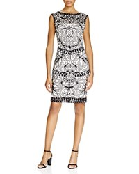 Sue Wong Cap Sleeve Lace Dress Black