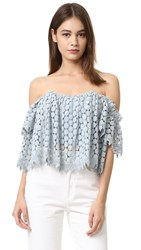 Tularosa Amelia Lace Crop Top Mint