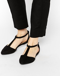 New Look Josie T Bar Flat Shoes Black