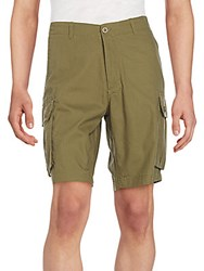 Saks Fifth Avenue Ripstop Cotton Cargo Shorts Stone