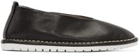 Marsell Gomma Black Perforated Leather Sanlaccio Flats