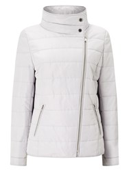 Windsmoor Asymmetric Short Quilt Jacket Light Grey