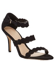 Phase Eight Anita Suede Sandals Black