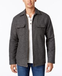 Club Room Men's Fleece Lined Shirt Jacket Only At Macy's Deep Black