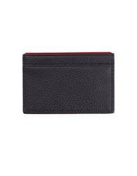 Royce Slim Handcrafted Leather Wallet Black Red