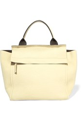 Brunello Cucinelli Textured Leather Tote Yellow