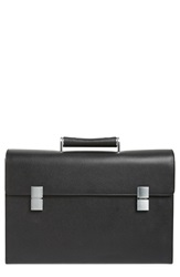 'French Classic 3.0' Leather Briefcase Black