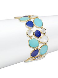Ippolita Rock Candy Lapis Mother Of Pearl Turquoise And 18K Yellow Gold Bracelet Gold Blue