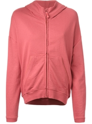 Diesel Zipped Hoodie Pink And Purple