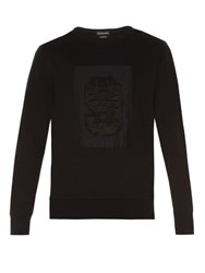 Alexander Mcqueen No.9 Applique Crew Neck Sweatshirt Black