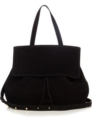 Mansur Gavriel Lady Top Handle Suede Bag Black