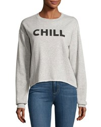 Signorelli Chill Graphic Roll Hem Sweatshirt Gray