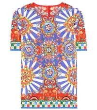 Dolce And Gabbana Printed Cotton T Shirt Multicoloured