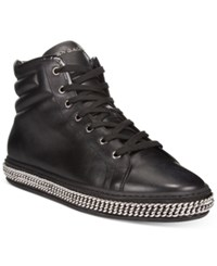 John Galliano Men's Chain High Tops Men's Shoes Black