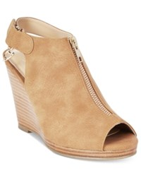 Thalia Sodi Telma Zip Front Platform Wedge Sandals Only At Macy's Women's Shoes