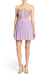 Women's Way In 'Claire' Embellished Strapless Skater Dress