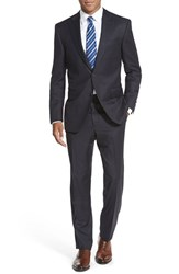 Men's Big And Tall Peter Millar Classic Fit Check Wool Suit Navy