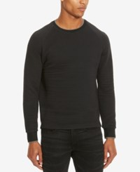 Kenneth Cole Reaction Men's Ottoman Quilted Sweatshirt Black