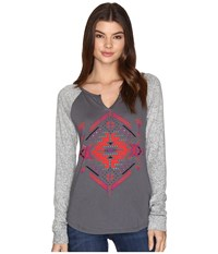 Rock And Roll Cowgirl Long Sleeve T Shirt 48T9190 Charcoal Women's T Shirt Gray