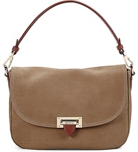 Aspinal Of London Letterbox Slouchy Leather Saddle Bag Tan
