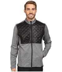 Adidas Climaheat Prime Quilted Full Zip Jacket Dark Grey Heather Black Men's Coat Gray