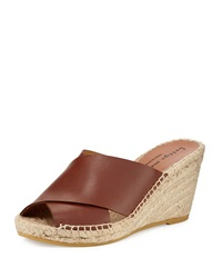 Bettye Muller Dijon Crisscross Wedge Sandal Cuoio