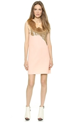 3.1 Phillip Lim Sequin Shag Tuxedo Dress Cream