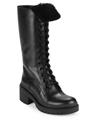 Marc By Marc Jacobs Leigh Shearling Lined Leather Boots Black