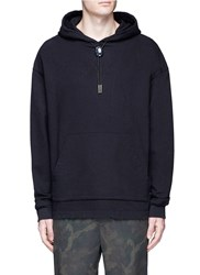 Alexander Wang Slogan Embroidered Bolo Tie Hoodie Black