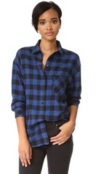 Rails Jackson Button Down Shirt Blue Black Check