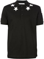 Givenchy Star Patch Polo Shirt Black