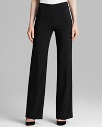 Armani Collezioni Pants Wide Leg Wool Black
