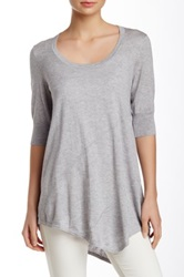 Cullen Asymmetric Seam Tunic Gray