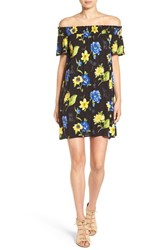 Soprano Women's Floral Print Off The Shoulder Dress