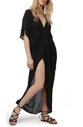 Women's Topshop Gathered Cover Up Maxi Dress