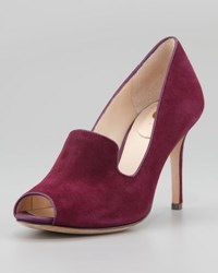 Vc Signature Riley Suede Peep Toe Pump Plumberry