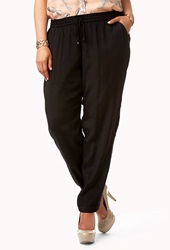 Forever 21 Drawstring Harem Pants Black
