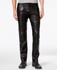 Inc International Concepts Men's Slim Fit Faux Leather Pants Only At Macy's Deep Black